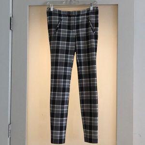 Zara Plaid Skinny Pant